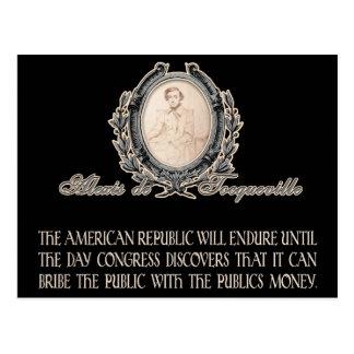 Postal Cita de Alexis de Tocqueville: El curso de la vida