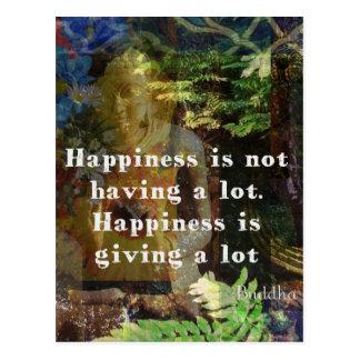Postal Cita de BUDA sobre felicidad