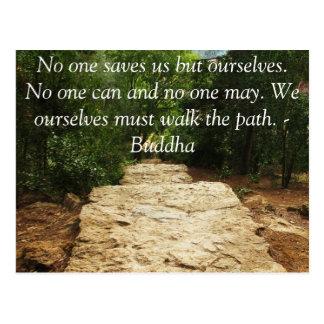 Postal CITA de Buda sobre la salvación y opciones