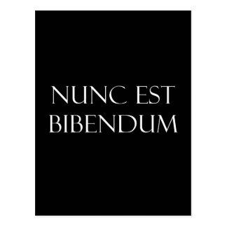 Postal Cita de consumición de Nunc Est Bibendum del latín
