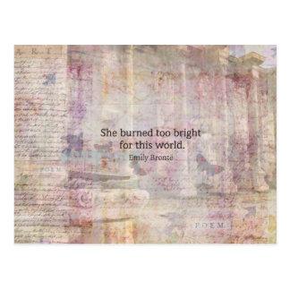 Postal Cita de Cumbres borrascosas de Emily Bronte