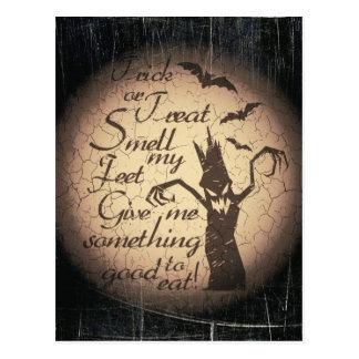 Postal cita de Halloween