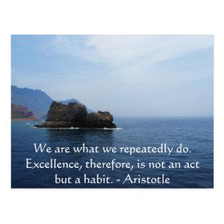 Postal Cita de la excelencia de Aristóteles