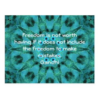 Postal Cita de la sabiduría de Gandhi que dice sobre la