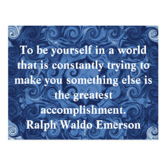 Postal CITA de Ralph Waldo Emerson inspirada