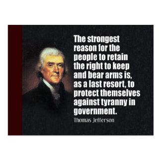 Postal Cita de Thomas Jefferson