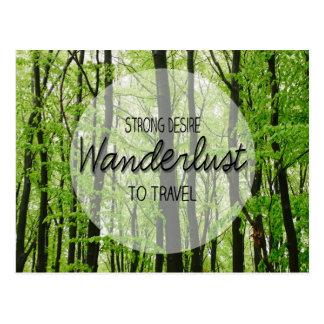 Postal Cita del bosque del Wanderlust