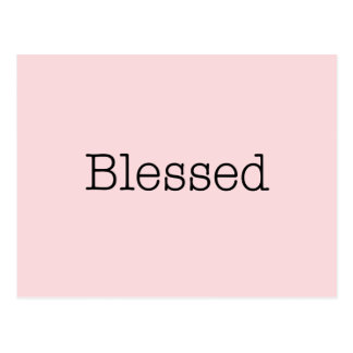 Postal Cita inspirada bendecida de la fe del rosa de las