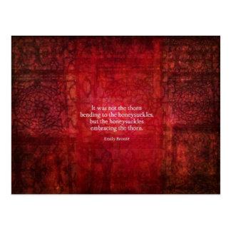 Postal Cita inspirada de Emily Bronte