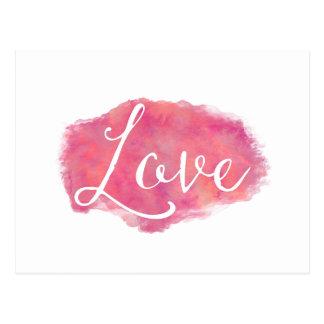 Postal Cita inspirada de la acuarela del amor rosado