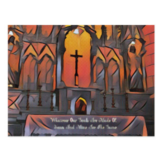 Postal Cita inspirada de la cruz artística del santuario