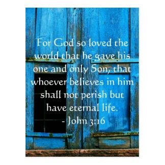 Postal Cita inspirada de la escritura del 3:16 de Juan