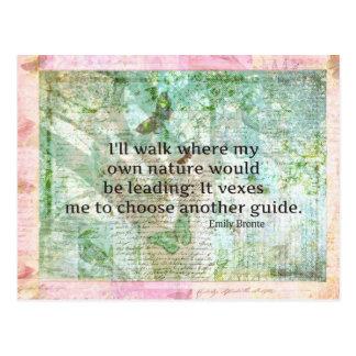 Postal Cita inspirada de la naturaleza de Emily Bronte