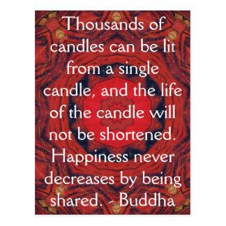 Postal Cita inspirada de motivación de Buda