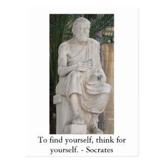Postal Cita inspirada de Sócrates