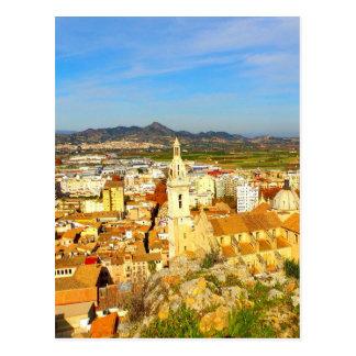Postal Ciudad de España del xativa de la belleza y de la