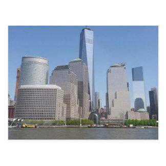 Postal Ciudad de la libertad en NYC