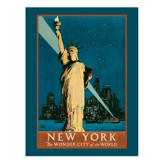 Postal Ciudad de la maravilla de Nueva York del mundo
