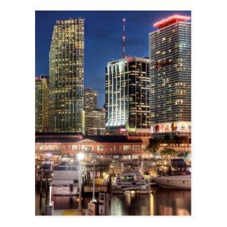 Postal Ciudad del horizonte de Miami en la Florida