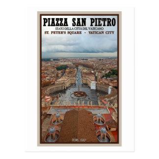Postal Ciudad del Vaticano - visión desde la basílica de