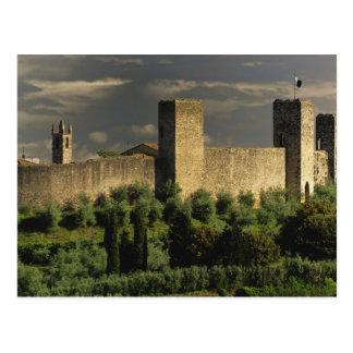 Postal Ciudad emparedada de Monteriggioni, en la