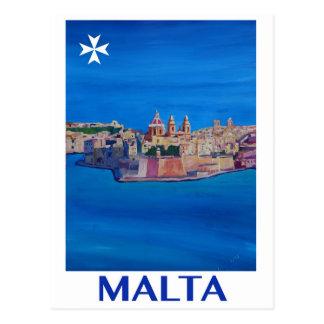 Postal Ciudad RETRA de Malta La Valeta del POSTER de