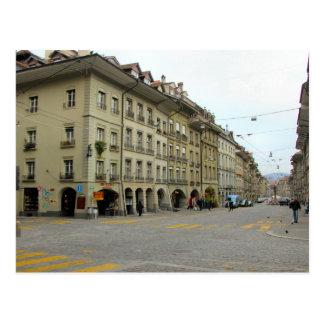 Postal Ciudad vieja de Berna - calle de las compras con