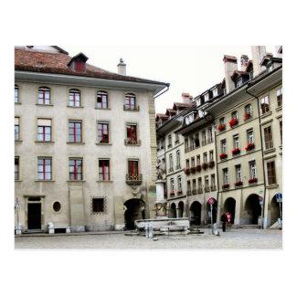 Postal Ciudad vieja de Berna - cuadrado de la catedral
