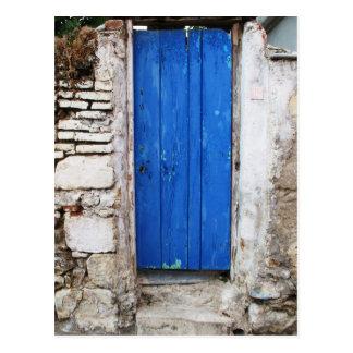 Postal Ciudad vieja de la PUERTA AZUL de Chania, Creta