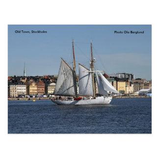 Postal Ciudad vieja, Estocolmo, Ola de la foto…