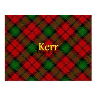 Postal Clan escocés Kerr