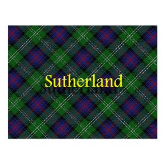 Postal Clan escocés Sutherland