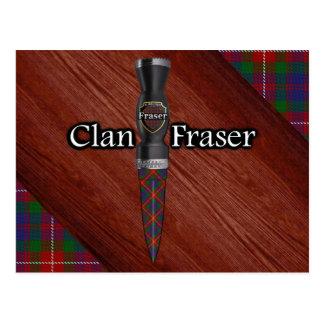 Postal Clan Fraser de la cuchilla de Sgian Dubh del