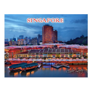 Postal Clarke histórico Quay en Singapur