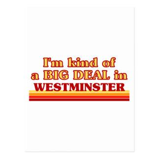 Postal Clase de I´m de una gran cosa en Westminster