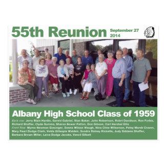 Postal Clase de secundaria de Albany de 1959 - 55.a