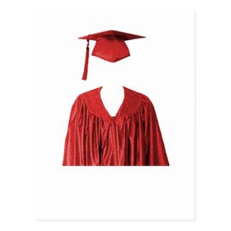 Postal Clase graduada del casquillo y del vestido