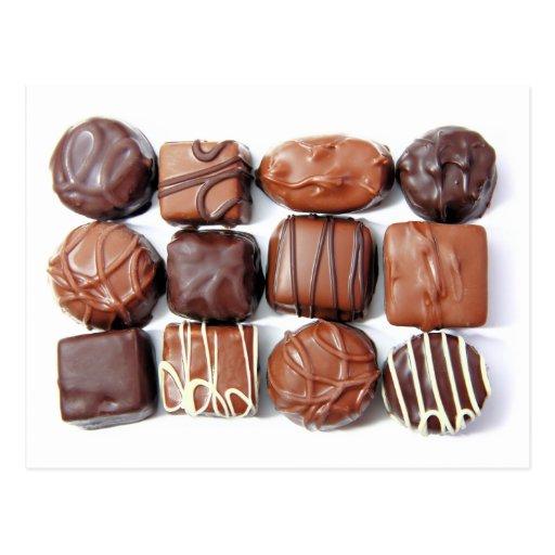 Postal clasificada de los chocolates