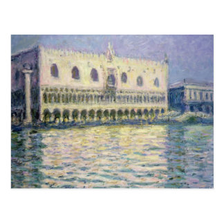 Postal Claude Monet el | el Palace ducal, Venecia, 1908