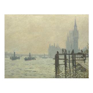 Postal Claude Monet - el Thames en Westminster