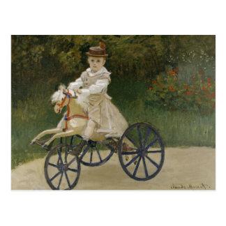 Postal Claude Monet - Jean Monet en su caballo de la