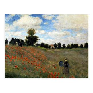 Postal Claude Monet - Les Coquelicots