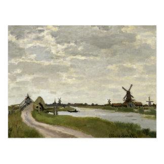 Postal Claude Monet - los molinoes de viento acercan a
