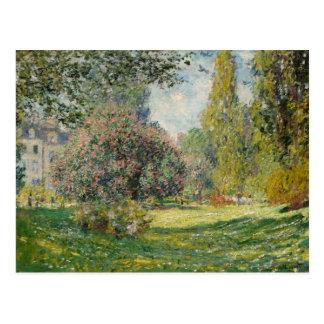Postal Claude Monet - paisaje: El Parc Monceau