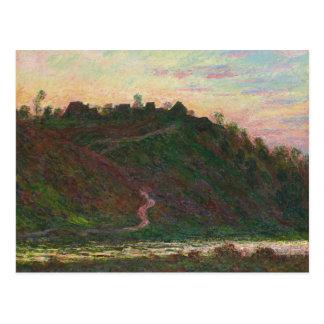 Postal Claude Monet - pueblo del La Roche-Rubio