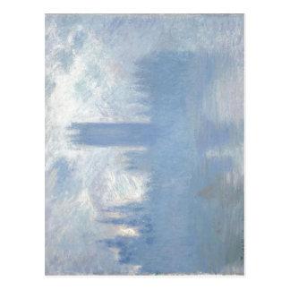 Postal Claude Monet sin título, casas dobladas del