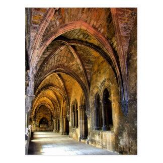 Postal Claustro gótico de la catedral de Lisboa