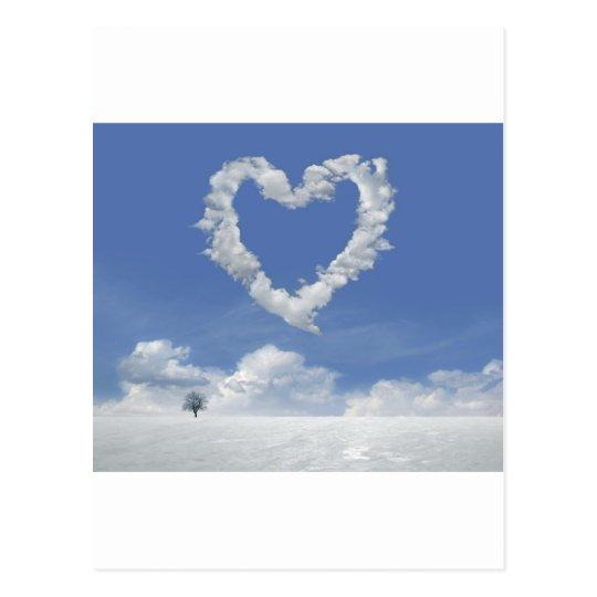 Postal clouds-of-love postcard
