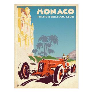 Postal Club del dogo francés de Mónaco