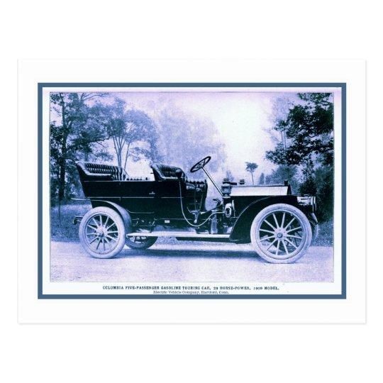 Postal Coche americano clásico Columbia 1909 del vintage
